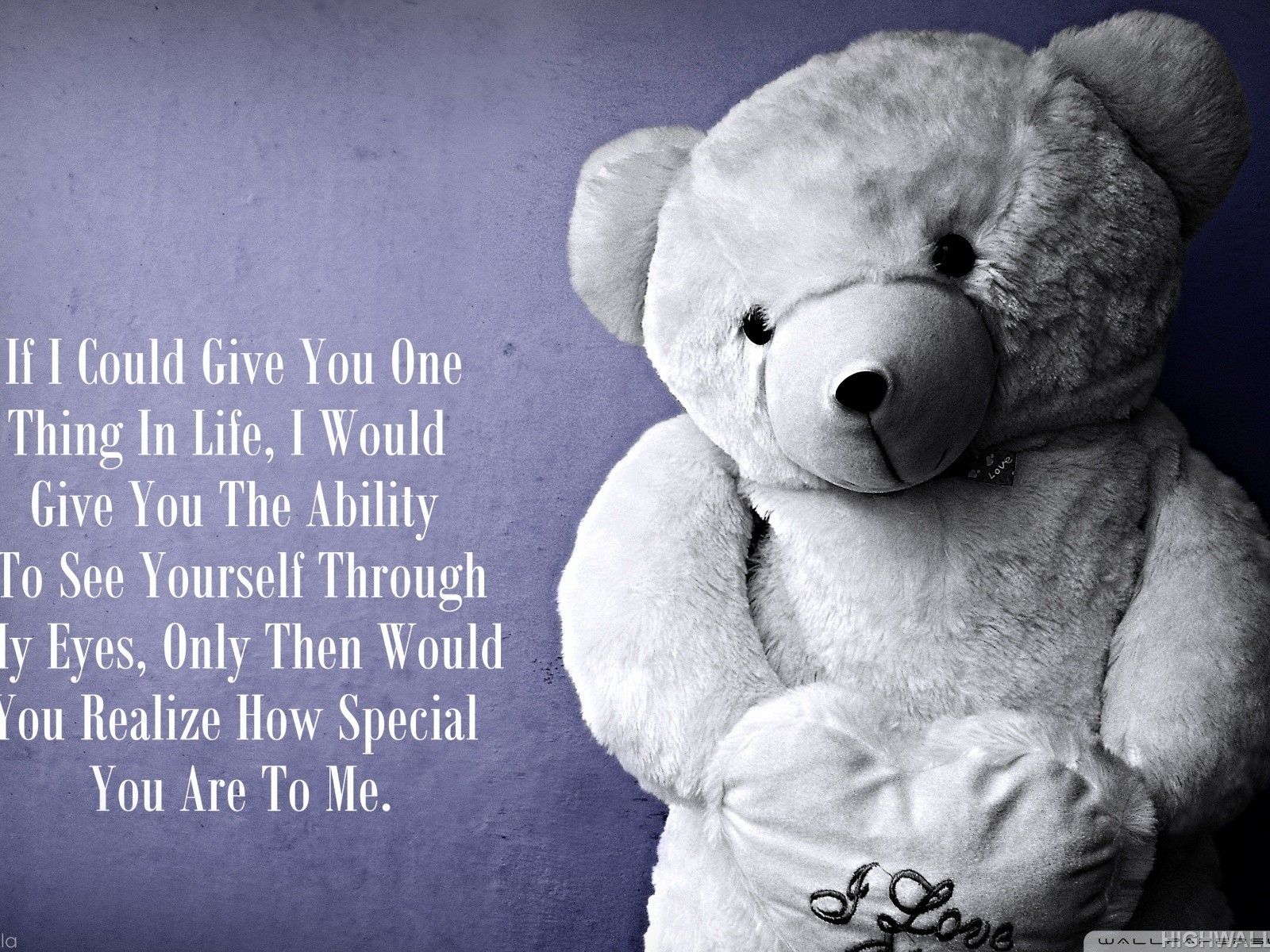 Cute Teddy Bear Love Wallpapers Love Teddy Bear Quote Hd Wallpaper