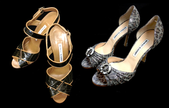 Mad about Manolo Blahnik - the two fab pairs of shoes were at the Kaimuki Goodwill store and will be sold at Goodwill Goes GLAM