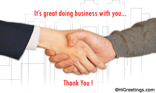 Send eCards Business  At Work Just To Thank You!