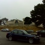 The Legion of Honor is a museum that sits on a hill just above Lands End Point.