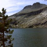 Mount Hoffman looms over May Lake (day two)