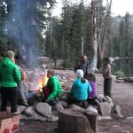 Campfire at May Lake High Sierra Camp