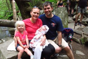 Family at Bridal Veil Falls