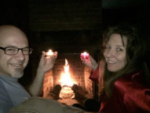 A lovely romantic fire on Christmas Eve