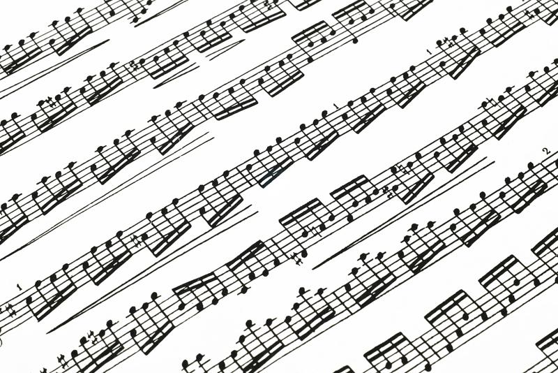 Music notes on paper \u2013 Tiger Hi-Line Online