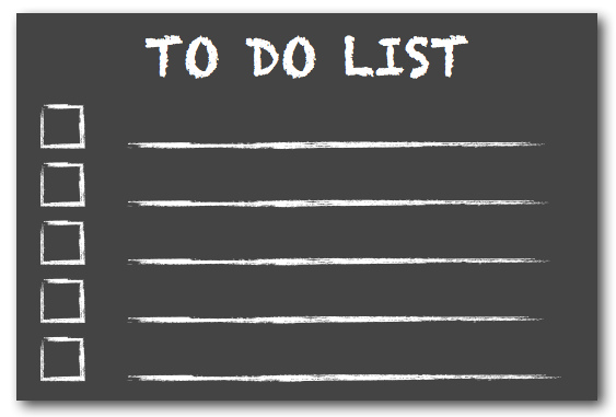 A peek at my To Do list through the end of the year