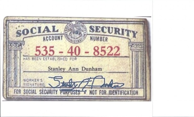 STANLEY ANN SOCIAL SECURITY NUMBER