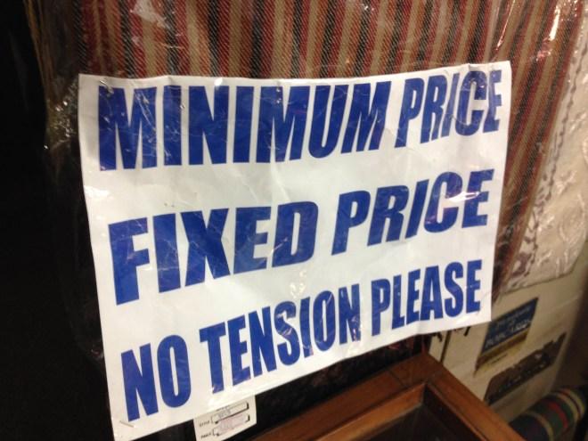 This sign stresses me out - New Delhi market