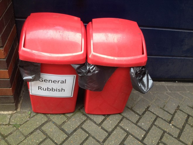 Do not dispose of anything specific here.
