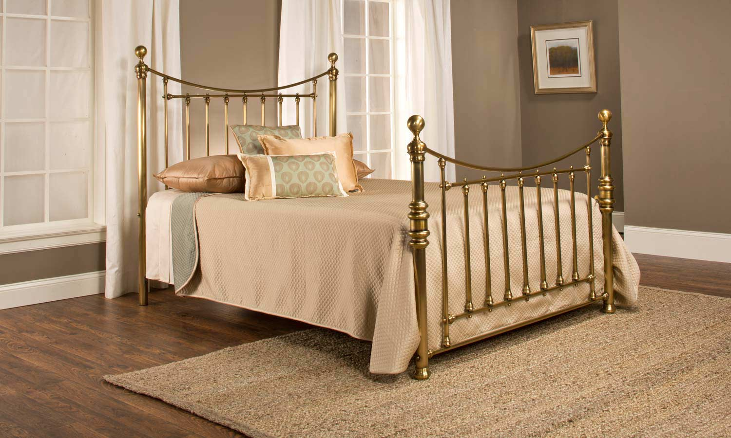 Hillsdale Old England Bed Antique Brass 1001 Bed
