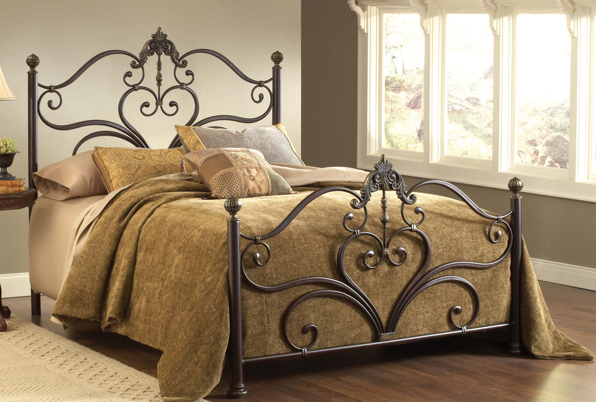Hillsdale Newton Bed Antique Brown Highlight 1756 Bed