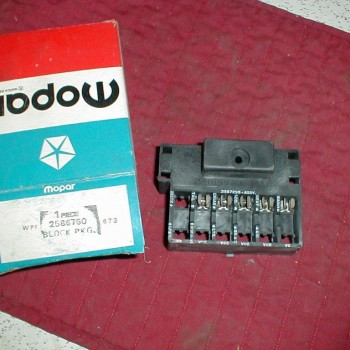 NOS Mopar Fuse Block 1966 C Body 1968-9 Plymouth  Dodge A  B Body