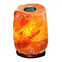 Pink Himalayan Rock Salt Lamp + Oil Burner 4-6kg ...