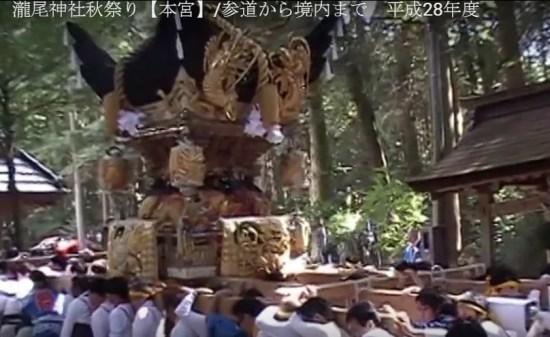 瀧尾神社秋祭り