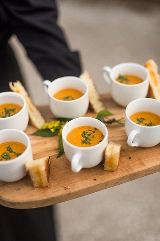 30 sweet fall wedding appetizer ideas