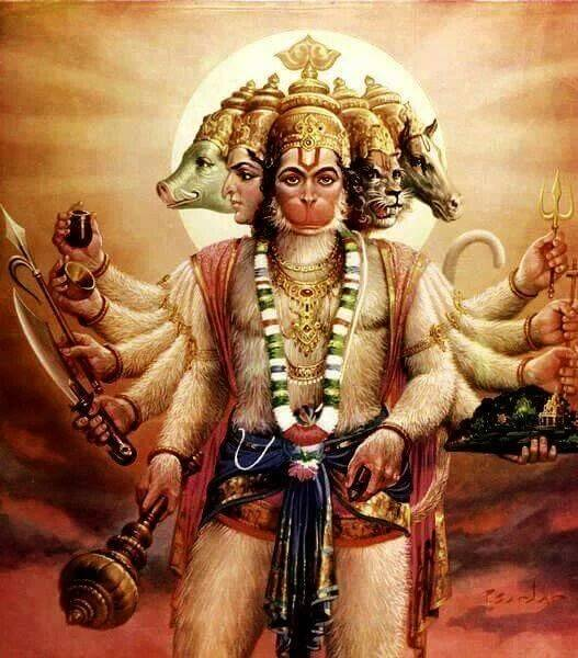 Lord Vishnu 3d Live Wallpaper What Is The Story Of Panchamukhi Hanuman The Hindu Faqs