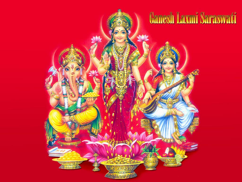 God Mahalakshmi Hd Wallpapers Free Download Ganesh Laxmi Saraswati Wallpapers