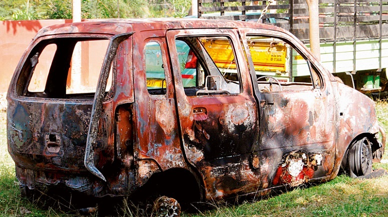 Tanzanian Student's Car Torched By Mob