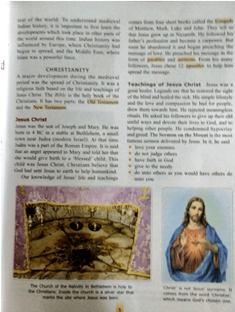 Lack of Criticism of Christianity in ICSE textbooks