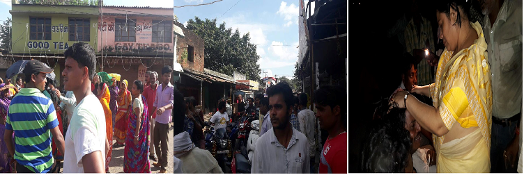 People gathered outside Rohit's home and in Gole Bazaar area