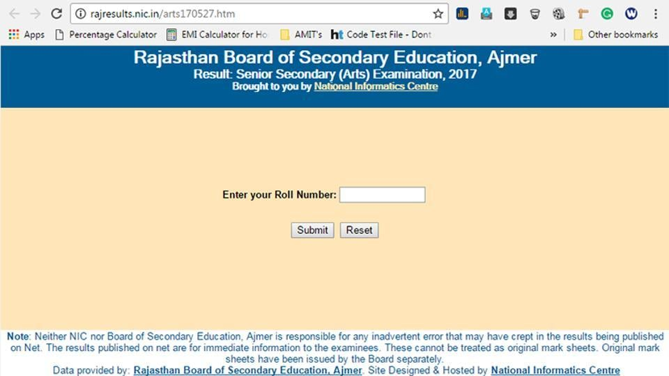 Rajasthan Class 12 arts results 2017 declared, check them here - copy blueprint education noida