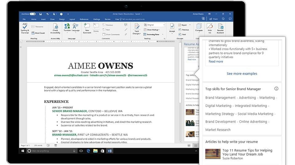 LinkedIn introduces Resume Assistant for Microsoft Word Here\u0027s how - How To Do A Resume On Microsoft Word