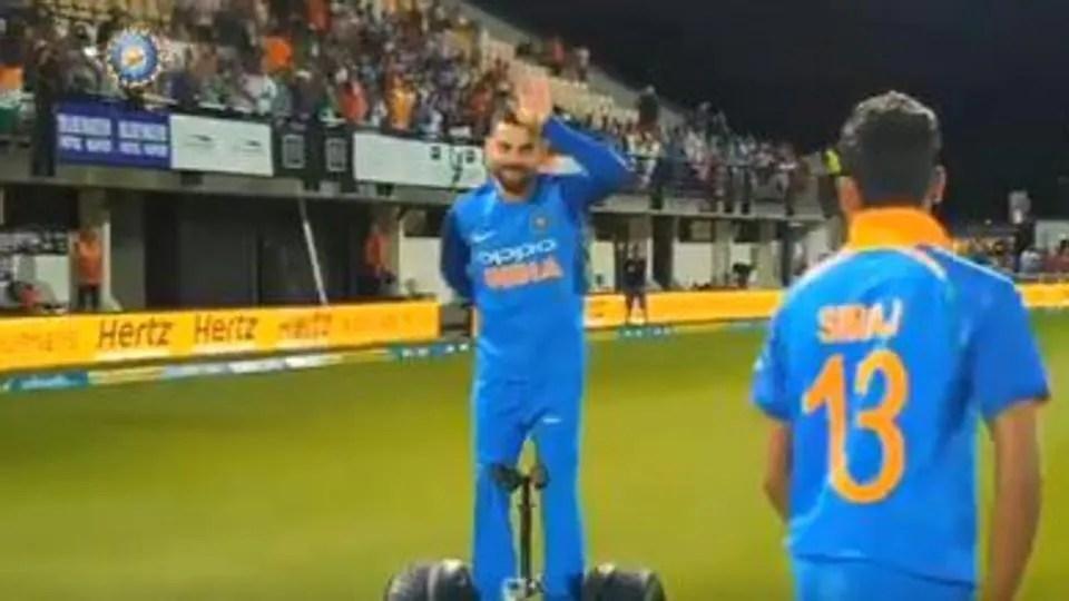 India vs New Zealand 2019 MS Dhoni  Virat Kohli go on segway