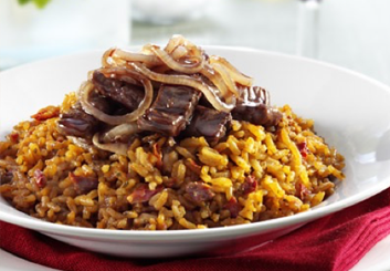 Hinode rice:: Red wine braised beef.