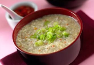 Hinode Rice: with green onions.