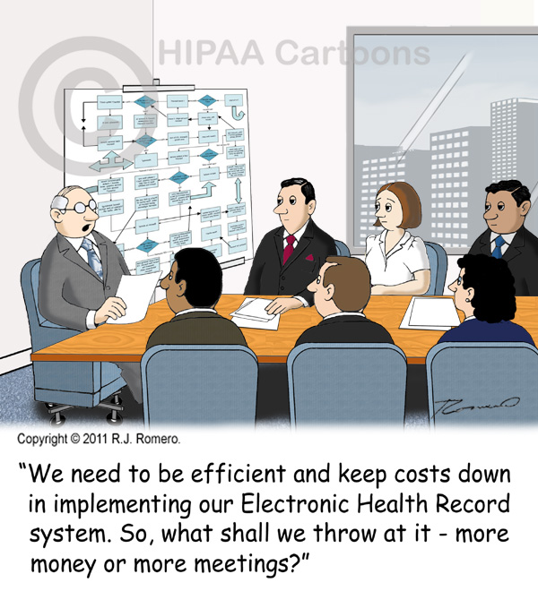 Cartoon-CEO-asks-whether-to-throw-money-or-meetings-at-ehr-implementation_emr110