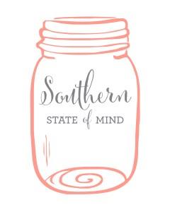 Southern State of Mind Mason Jar Free Printable _White