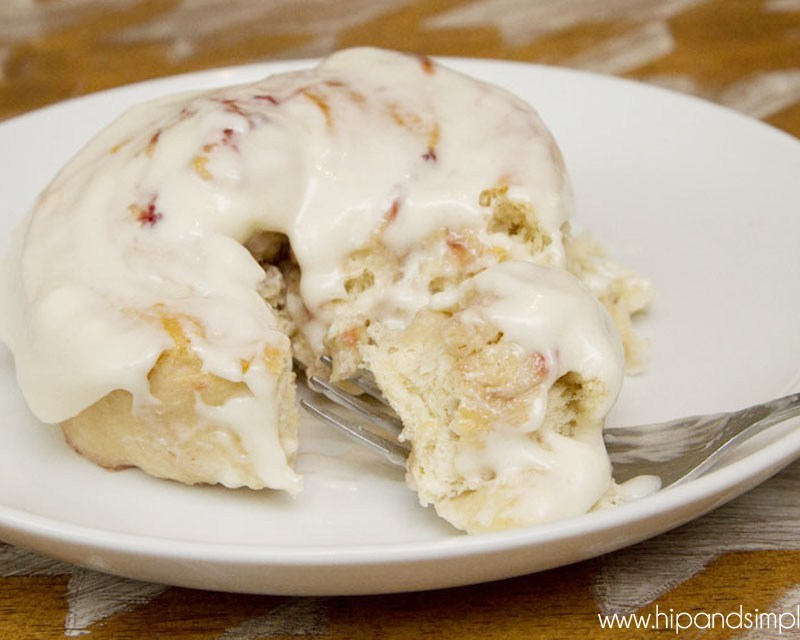 Strawberry Sweet Rolls with Cream Cheese Frosting
