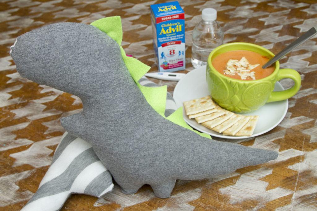 Stuffed Comfort Cuddle Dino Tutorial - Featured
