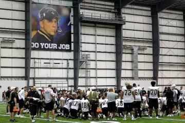 Sean Payton always had a close eye on his team...but this is just creepy.