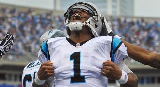 """All eyes are on """"Super"""" Cam Newton in his first NFL playoff game this weekend."""