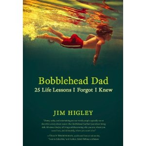 bobblehead dad jim higley cover showing boy swimming underwater