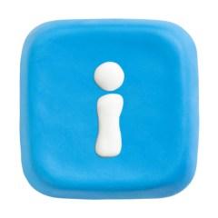 blue keyboard key with i