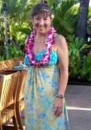 marisa in lei and hawaiin dress