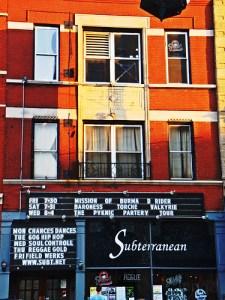 exterior of subterranean club