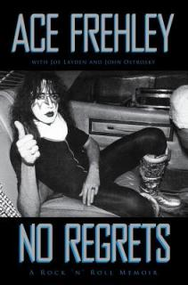 cover of ace frehely's memoir in makeup giving thumbs up in car