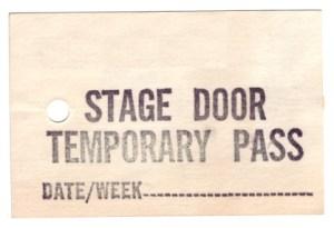 stage door pass