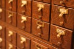 card catalog close-up shot