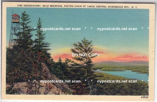 Fire Observatory, Bald Mountain NY / HipPostcard