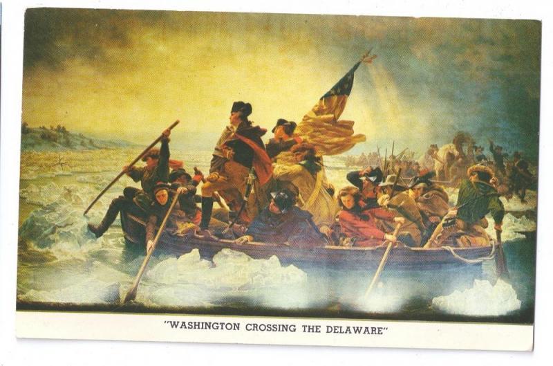 Painting Washington Crossing Delaware Leutze State Park PA / HipPostcard