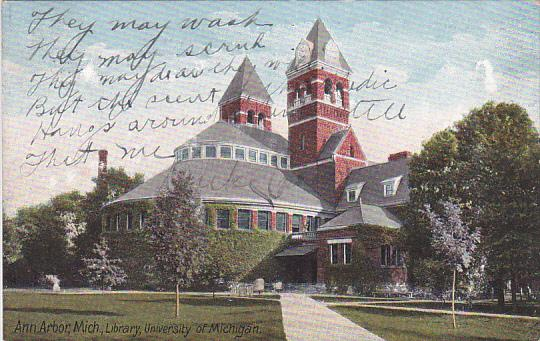 ANN ARBOR, Michigan, PU-1908; Library, University of Michigan