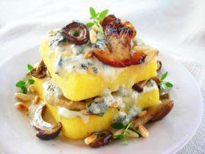 Mushroom & Gorgonzola Pressure Cooker Polenta Lasagna