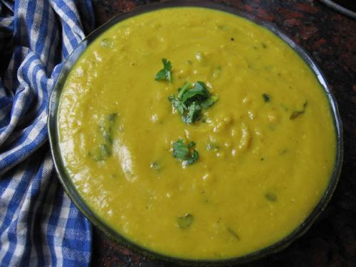 Bright Yellow, Red Lentil Pressure Cooker Recipe