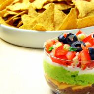 Make the 7-layer dip from scratch