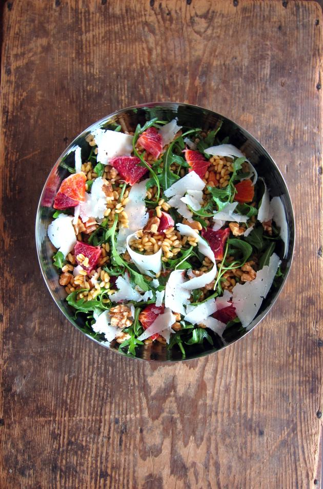Kamut, Arugula, Blood Orange Salad