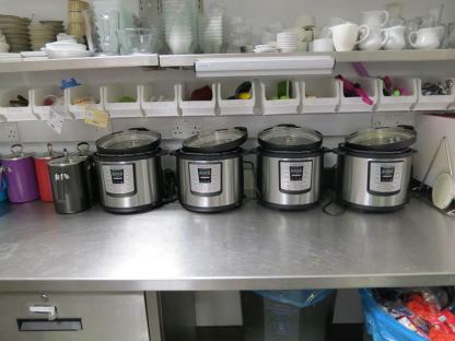Instant Pots ready to cook